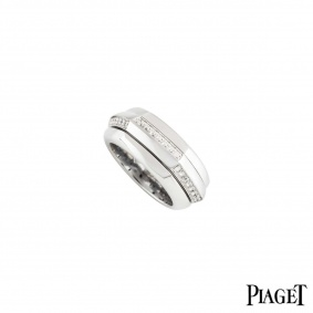 Piaget 18k White Gold Diamond Set Possession Ring
